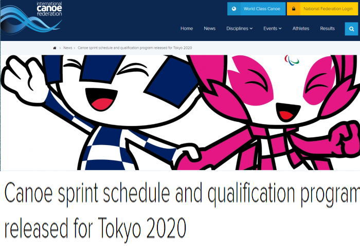jo progres01 - カヌーSP競技2020東京オリンピック予選通過ルール発表
