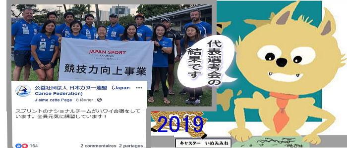 iinu news 2019daihyou - 海外派遣選手最終選考会決勝Aレース結果