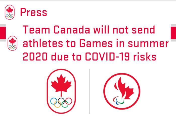 20200323canada  - カナダは東京オリンピックに参加しない