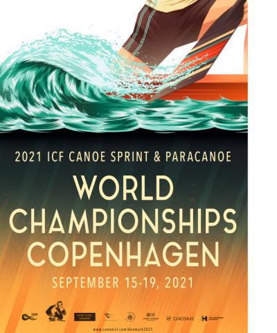 2021WCH CH afiche - 2021カヌー スプリント世界選手権コペンハーゲン日本選手成績