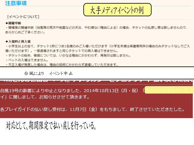 haraimodosirei - イベント中止での返金を法的に考える